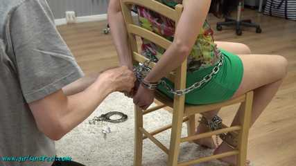 Cuffed and gagged Nina part 1