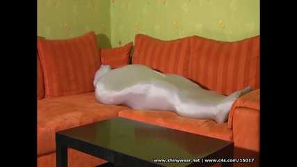Spandex couple playing - Zentai sex