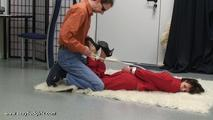 Business woman hogtied 1