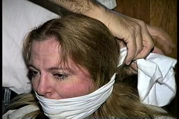 30 Yr OLD BBW SINGLE MOM IS CLEAVE GAGGED, HANDGAGGED, BALL-GAGGED, BLINDFOLDED, MOUTH STUFFED, OTM GAGGED, GAG TALKS & TIGHTLY TIED TO A CHAIR (D70-4)