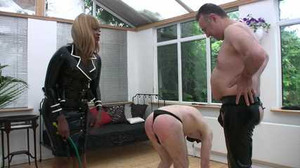 Mistress Ava Black's Whipping - Touch Your Toes (HD wmv)