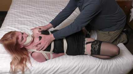 Bondage Business Weekend Parts 2 and 3 - Lorelei is StuffGagged Groped and Vibed