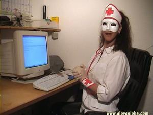 nurse gloves handjob